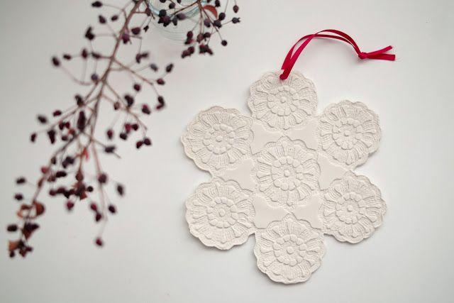 ❍ Porcelain doily for the festive season by Otchipotchi . November 2011