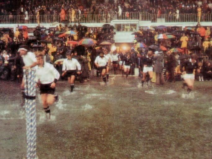 All Blacks vs Scotland 1975. The 'water polo' test