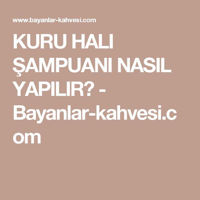KURU HALI ŞAMPUANI NASIL YAPILIR? - Bayanlar-kahvesi.com
