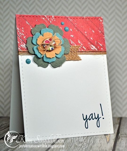 Yay From Joyful Creations With Kim Stamps By CAS Ual Fridays