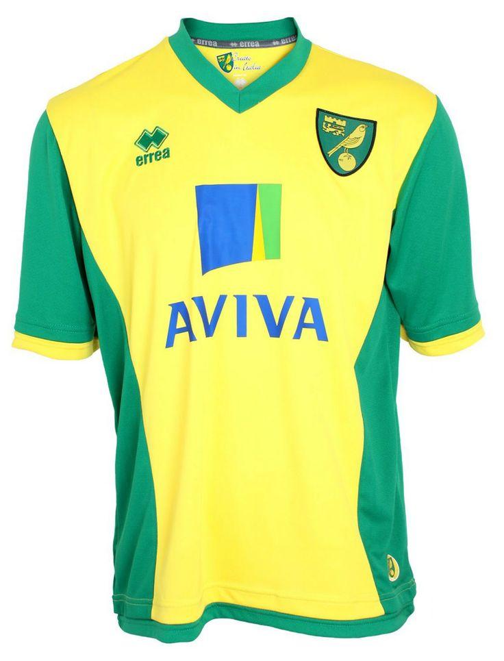 Norwich City FC (England) - 2013/2014 Erreà Home Shirt