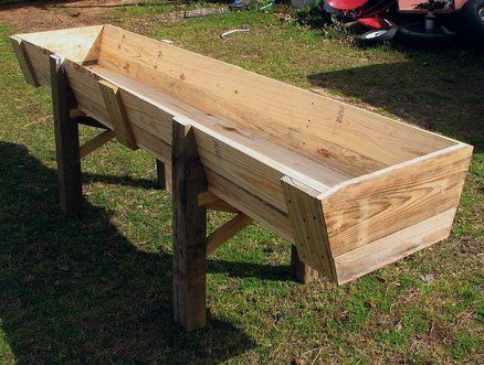 Another farm project- a feed trough                                                                                                                                                                                 More                                                                                                                                                                                 More