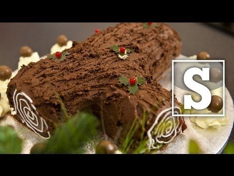 CHRISTMAS YULE LOG RECIPE - SORTED, i made it this year and it was a huge success, my only tip would be to be care full spreading the butter cream frosting its a bit tricky.