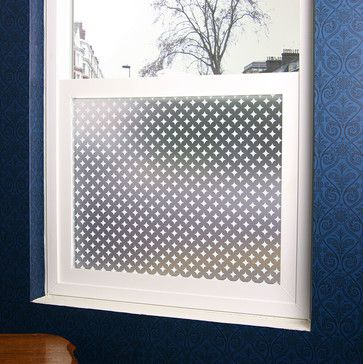 Diamonds Privacy Window Film - 3 ft. x 4 ft. - Contemporary - Window Treatments - PureModern