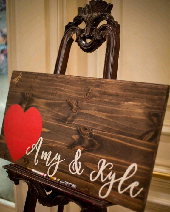 Wedding Guestbook Wood Guest Book Rustic by rustybucketsigns