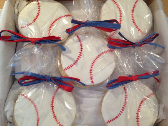 Baseball Cookie Favors Baseball Theme Party Favors Boys