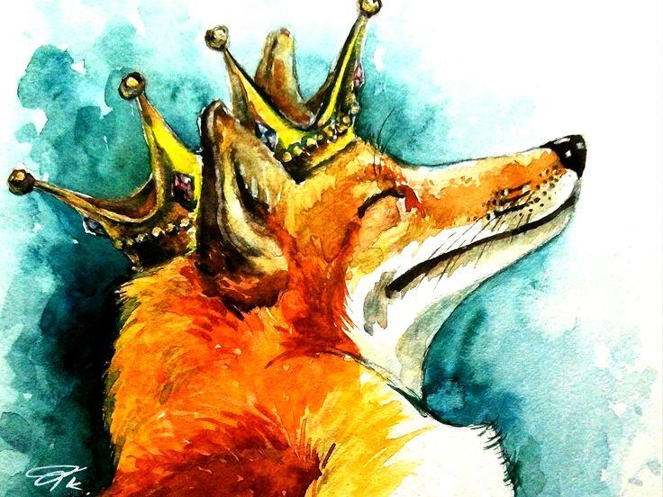 картинка лиса с короной поменять фоновый рисунок