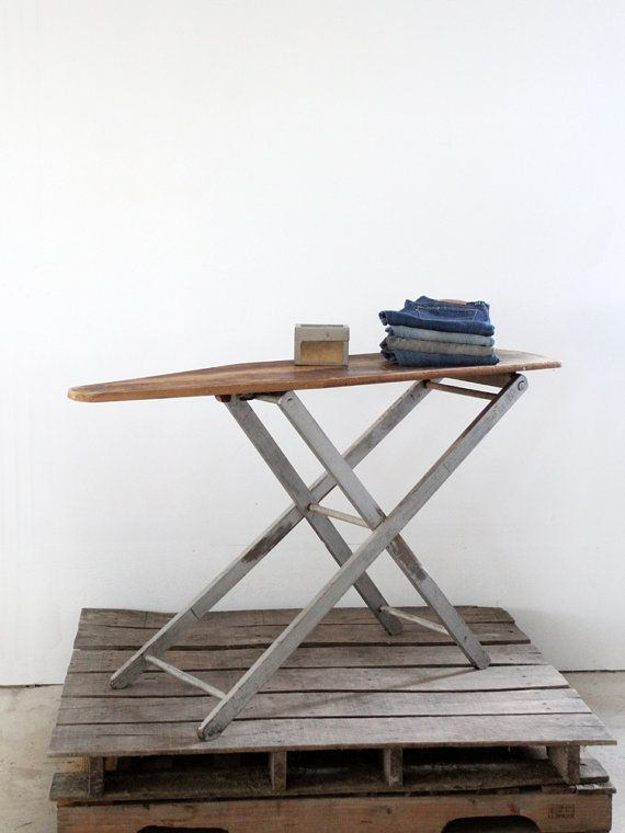 Vintage Ironing Board / 1930s Wood Ironing Board by 86home on Etsy