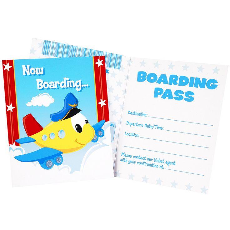 Airplane Adventure Invitations