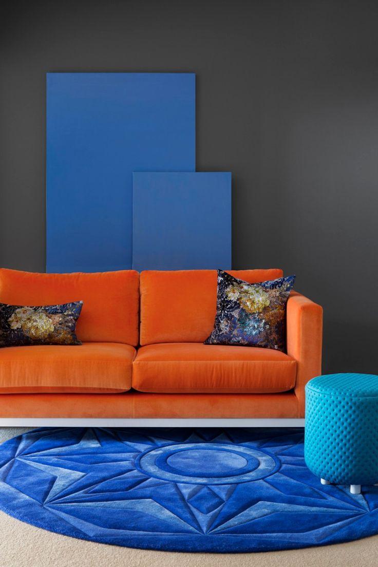 25+ Bästa Idéerna Om Orange Sofa På Pinterest