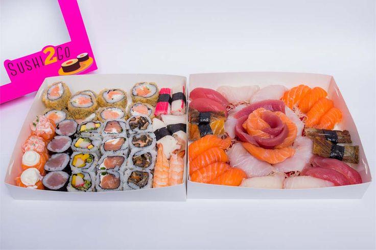 Jumbo: 4 sushi de atum/ 8 sushi de salmão/ 4 sushi skin/ 4 sushi peixe branco/ 2 sushi de polvo/2 kani sushi/ 2 ebi sushi/ 4 sashimi de atum/ 4 sashimi de salmão/ 4 sashimi peixe branco/ 4 uramaki salmão skin/ 4 uramaki california/ 4 uramaki filadélfia/ 4 tekka maki/ 2 salmão gunkan/ 10 hot filadélfia/ 2 Jo tartare