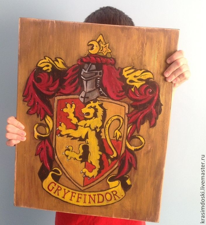 """Интерьерная вывеска 50х40 см. На заказ в группе """"Красим доски"""" в ВК. #wood #signs #gryffindor #potter #вывеска #детская #постер #лофт #интерьер #гриффиндор #табличка"""