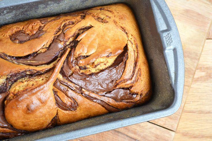 Dulce de Leche Nutella-Swirl Loaf Cake