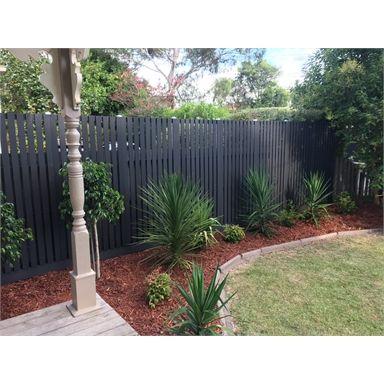 Ekodeck 1800 X 900mm Greystone Composite Screening Bunnings Warehouse In 2020 Garden Screening Backyard Fences Bamboo Screening Fence