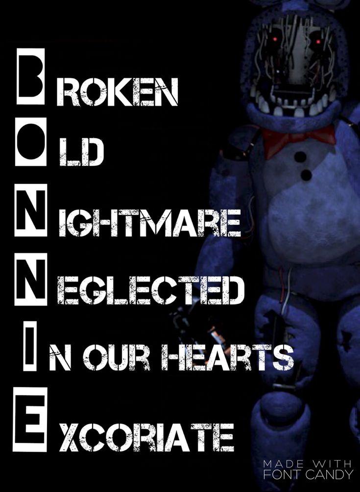 Bonnie acrostic poem, FNAF