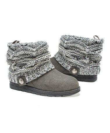 Look at this #zulilyfind! Gray Pattie Sweater Boot - Women #zulilyfinds