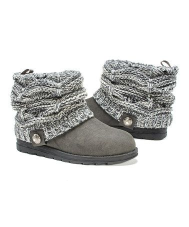 Look at this #zulilyfind! Gray Pattie Sweater Boot - Women #zulilyfinds