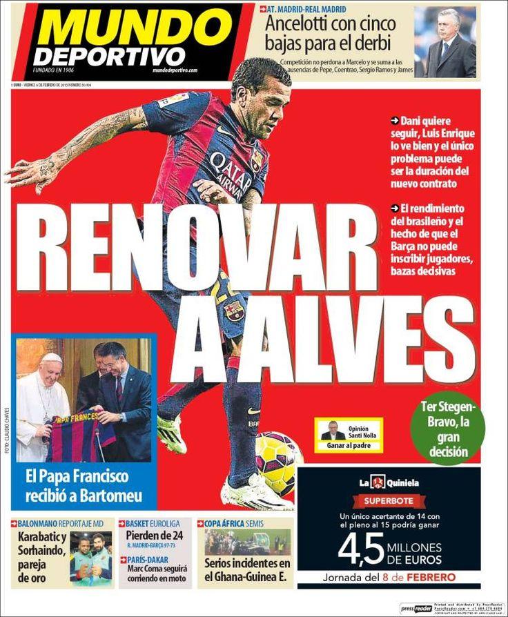 Portada Mundo Deportivo 6/02/2015