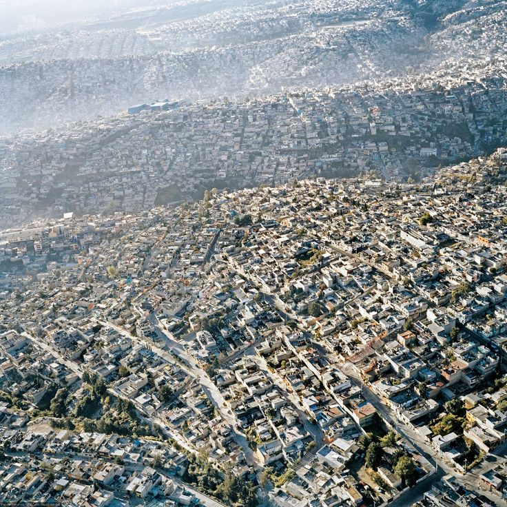 Sprawling Mexico City: Hills and valleys don't stand in the way of expansion outside the Mexican capital. Homes simply follow the contours of the earth