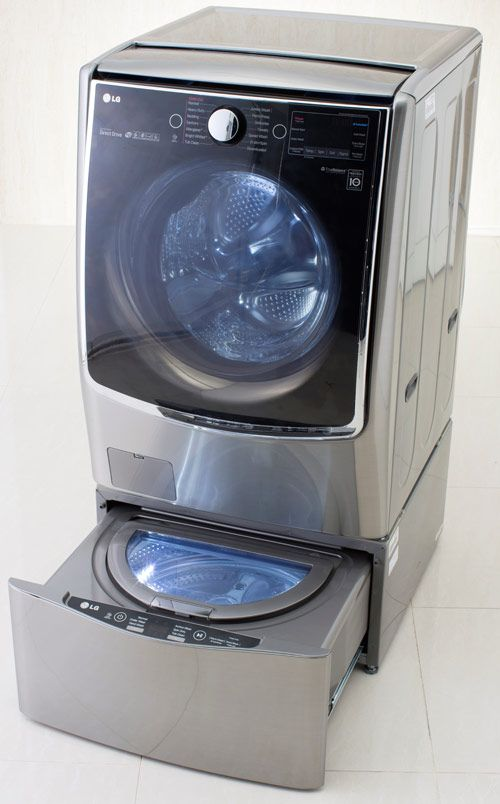 LG TWIN Wash System, which enables two separate loads of laundry to run simultaneously.