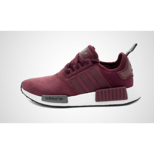 adidas NMD Runner W Details Pack - maroon - S75231 | 43einhalb sneaker... ($39) ❤ liked on Polyvore featuring shoes, adidas footwear, star shoes, adidas shoes, maroon shoes and adidas