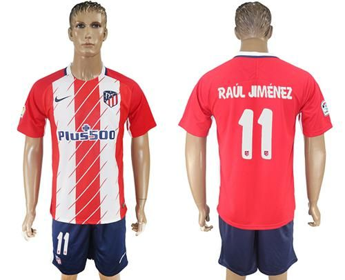 2017-2018 Atletico Madrid #11 Rual Jimenez Home Soccer Club Jersey