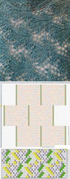 Ажурный узор спицами+СХЕМА. Коллекция бесплатных схем для вязания спицами |