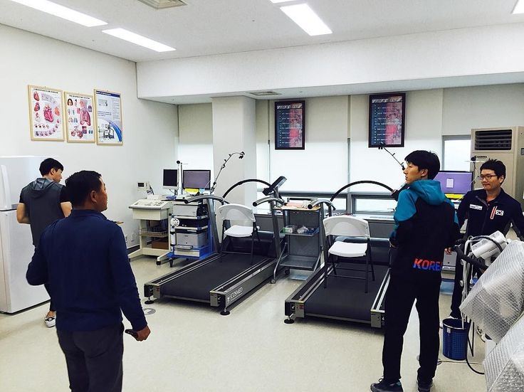 From Instagram: Sport science and physiology laboratory at South Korean national team training camp (Jincheon) featuring COSMED metabolic cart (Quark CPET) and COSMED treadmills