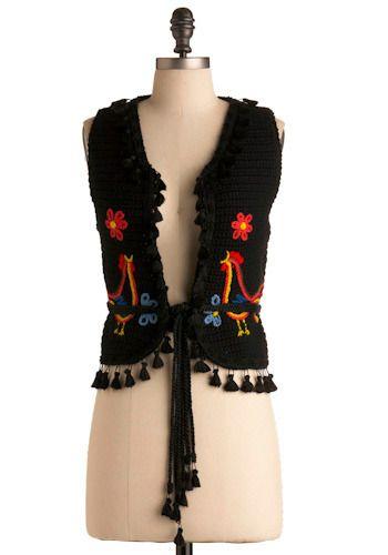 Vintage Obsidian Knit Vest, #ModCloth