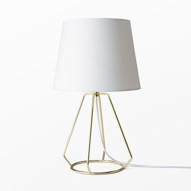 Bordslampa i metalltråd, guld