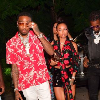 "Joe Budden vs Migos vs Chris Brown Over Karrueche Tran Migos vs Joe Budden before the BET Awards and then Migos vs Chris Brown after the BET Awards. The Chris Brown fight was allegedly over Karrueche Tran. We all know how Chris Brown feels about her but it looks like Quavo is about to put a ring on it. A few months ago Chris Brown and Quavo collaborated on the song ""Whippin"" and now they're in a feud over Karrueche. The sad part: Karrueche isn't a dime! She has a beautiful tattoo on the back…"