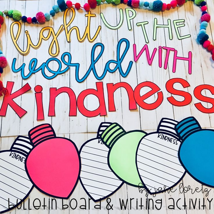 Are you looking for a great bulletin board this holiday season?   The focus on kindness has been especially important this year and this bulletin board is simple but will go great with all of your kindness lessons.  Included are the letters to make your bulletin board and the Christmas bulb writing paper.