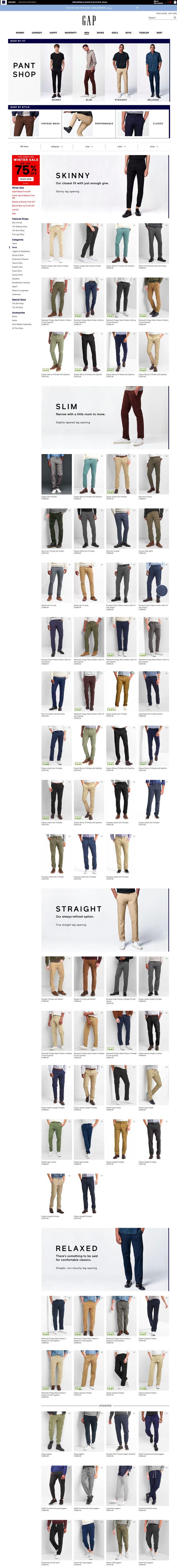 Gap Pants Experience