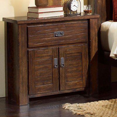Progressive Furniture Trestlewood 1 Drawer Nightstand - Mesquite Pine - P611-44