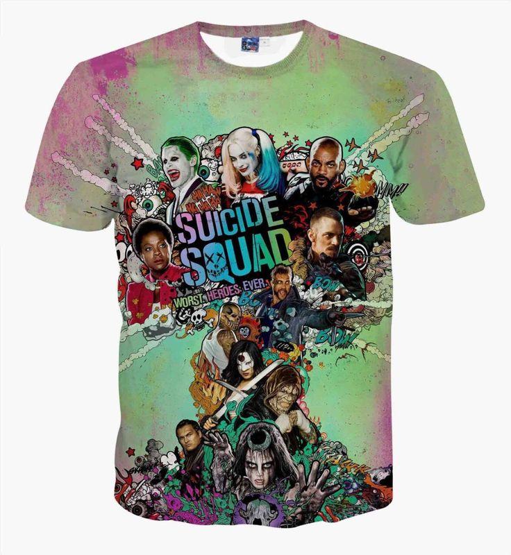 Suicide Squad T-shirt  $19.98 and FREE shipping  Get it here --> https://www.herouni.com/product/suicide-squad-t-shirt/  #superhero #geek #geekculture #marvel #dccomics #superman #batman #spiderman #ironman #deadpool #memes