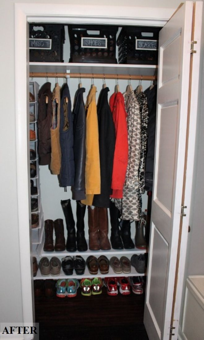Coat Closet Makeover Entry Closet Entry Closet