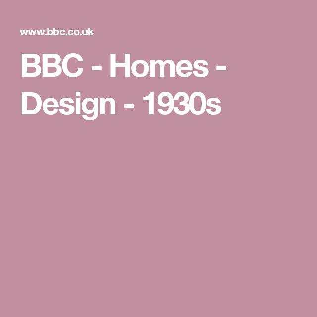 BBC -  Homes - Design - 1930s