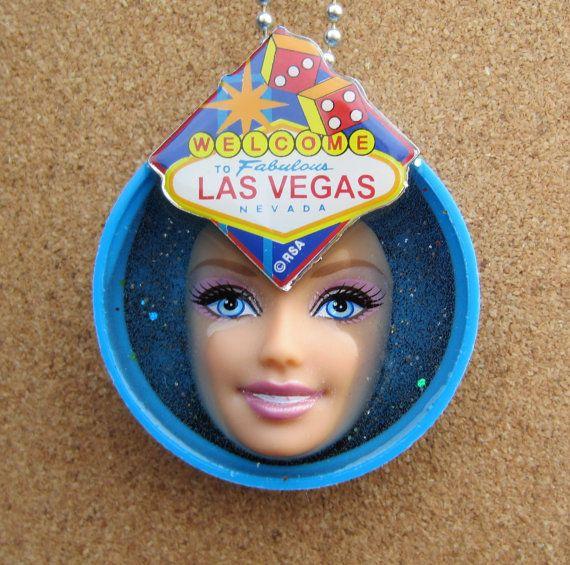 Welcome to Fabulous blue Las Vegas upcycled by gjarvisjewelryetc, $25.00