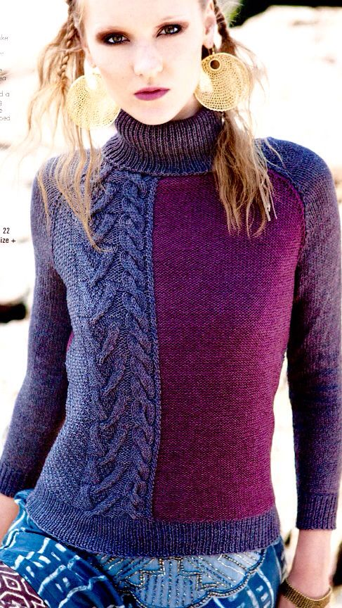 Love the color and pattern blocks.  Vogue knitting