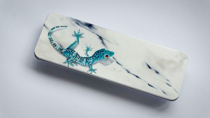 Pennenblik marmer met gekko
