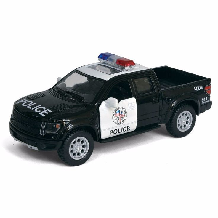 Haute Simulation Exquis Sous Pression et Vehicules Jouets: KiNSMART Voiture Style Ford F150 Raptor Police Ccra 1:46 Alliage Moule Sous Pression SUV modele