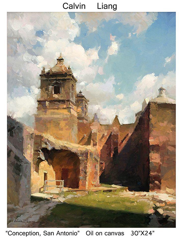 Conception, San Antonio by Calvin Liang Oil ~  x