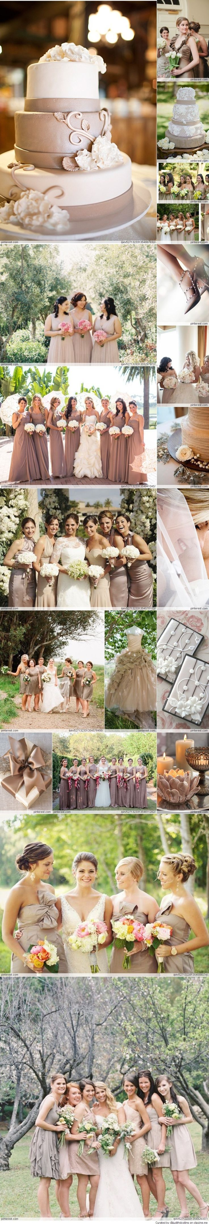 Simply gorgeous.... A Taupe wedding