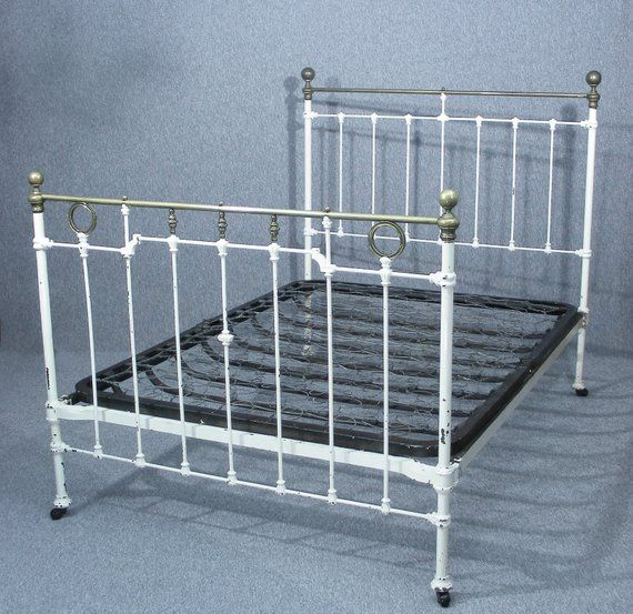 Victorian Brass Iron Double Bed Double Bed Antique Bed Victorian Bed Brass Bed Iron Bed Antique Double Bed Bed Frame White Bed Bed Frame Design Iron Bed
