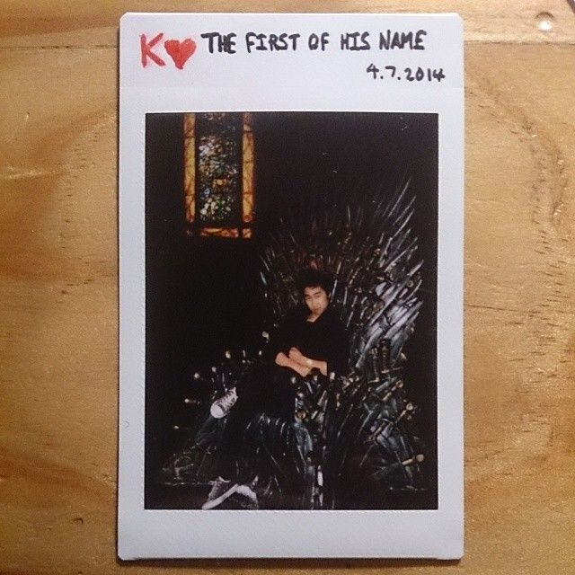 52 cards in a deck // 52 weeks in a year. When the Game of Thrones Exhibition came to Australia we knew we had to go. Drove to Sydney in the early morning and lined up for 9 hours to see all the props and sit on the iron throne. So worth. #GoT #polaroid #photochallenge #photography