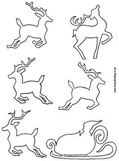 Christmas reindeer and sleigh pattern