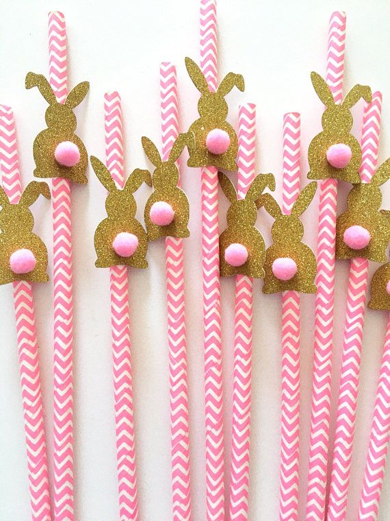 Complete your party with this Bunny pompom chevron paper straws. During checkout please choose pompom colors. And pink, light blue or combination chevron paper straws. Glitter cardstock made from shed free cardstock and white on the reverse side. This listing is for 12 pcs paper