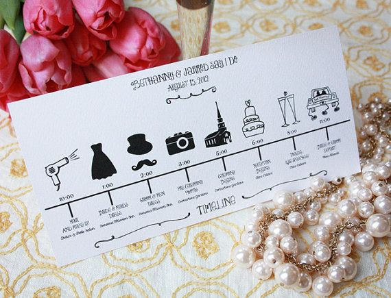 Printable Wedding Party Timeline by Print Your Party
