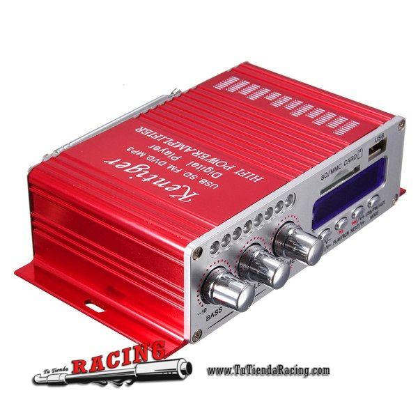 20,26€ - ENVÍO SIEMPRE GRATUITO - Sistema de Audio de 2 Canales Hi-Fi Stereo con Amplificador DVD FM USB SD MP3 para Coche - TUTIENDARACING