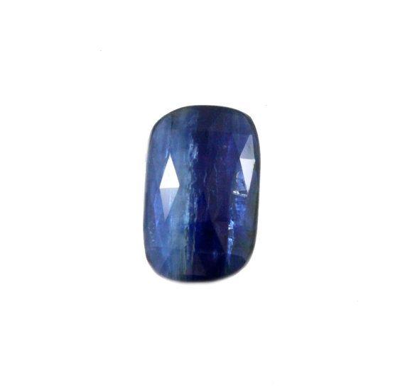 Blue Kyanite fancy rose cut 9.80 carat by SARAHHUGHESfinegems